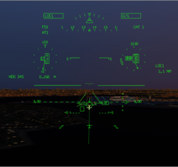 Bizjet HUD on Approach | FlyRealHUDs.com